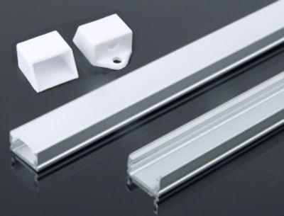 Hliníková lišta-profil MS-510 pro LED pásek 8mm, délka 1m
