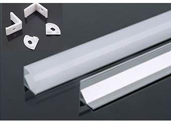Hliníková lišta rohová-profil MS-601 pro LED pásek 8-10mm, délka 1m