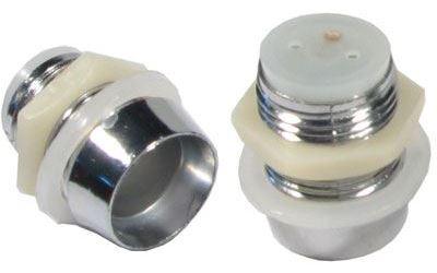 Objímka LED 10mm se závitem,pochromovaný plast