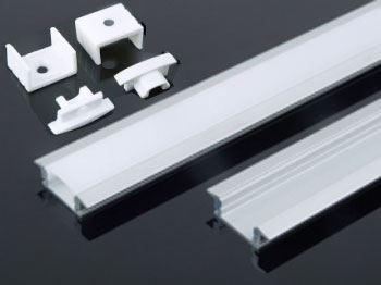 Hliníková lišta-profil MS-508 pro LED pásek 8-10mm, délka 2m