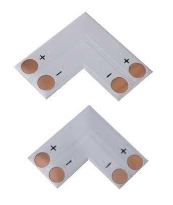 Rohová spojka PCB pro LED pásky 10mm - pájecí