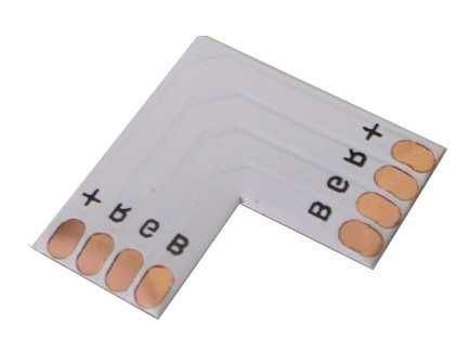 Rohová spojka PCB pro LED pásky  RGB- pájecí