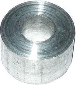 Distanční sloupek 6x15mm, otvor 4mm, hliníkový