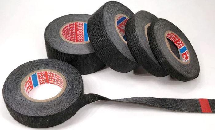 Izolační páska PET textilní 25mmx15m černá, pro kabelové svazky