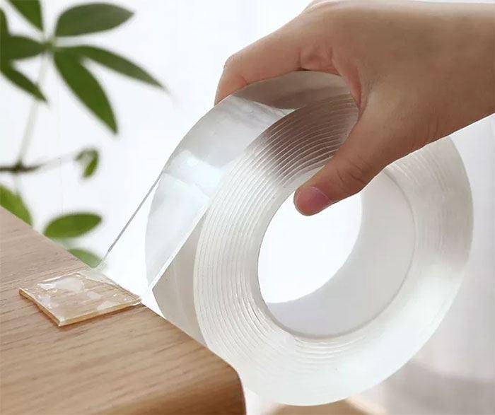 Oboustranná lepící nano páska průhledná - 3cm x 1m