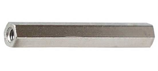Distanční sloupek kovový DI5 M3x40mm 2xvnitřní závit, niklovaná mosaz