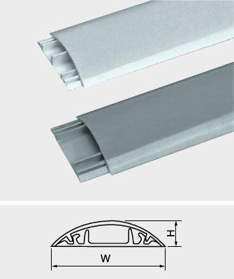 Přechodová lišta pro kabely bílá, š=20mm, v=6mm