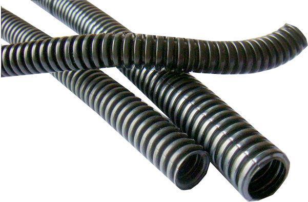 Chránička na kabel - husí krk 25mm s podélným řezem