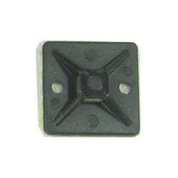 Držák stahovací pásky plochý 20x20mm černý