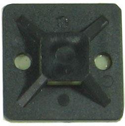Držák stahovací pásky plochý 25x25mm černý
