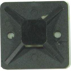 Držák stahovací pásky plochý 30x30mm černý