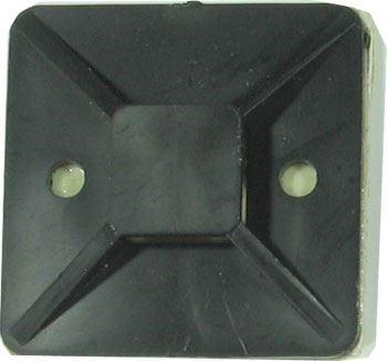 Držák stahovací pásky plochý 40x40mm černý