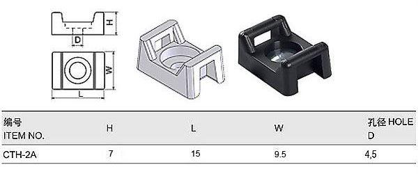 Držák stahovací pásky CTH-2A černý