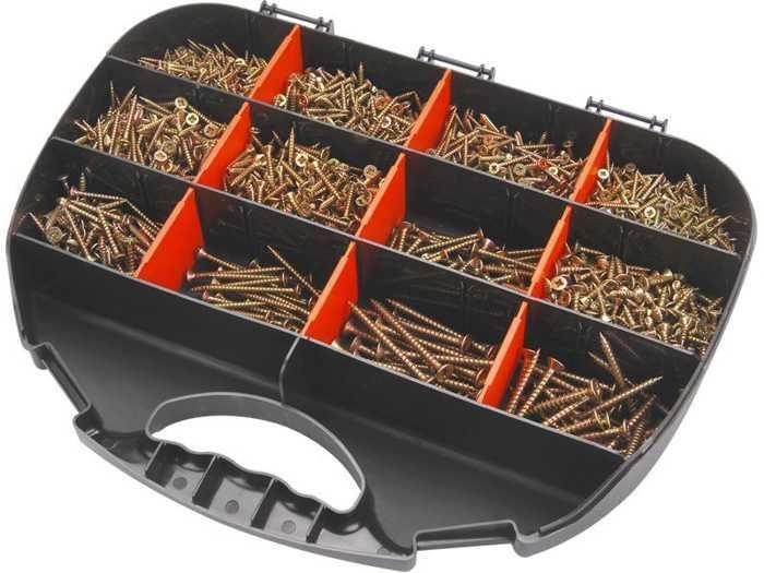 Vruty do dřeva 12 rozměrů, sada 2000ks, EXTOL CRAFT, 1441