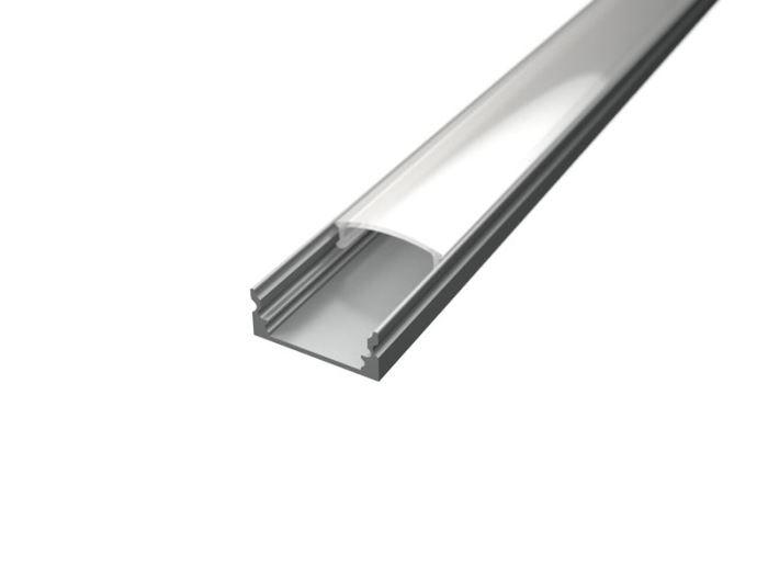 Alu profil SURFACE 1 s difuzorem pro LED pásek 8-10mm  - délka 2m