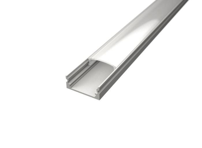 Alu profil SURFACE 1 WHITE s difuzorem pro LED pásek 8-10mm -délka 2m