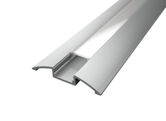 Alu profil SURFACE 4 s difuzorem MILK  pro LED pásek 8-10mm  - 1metr
