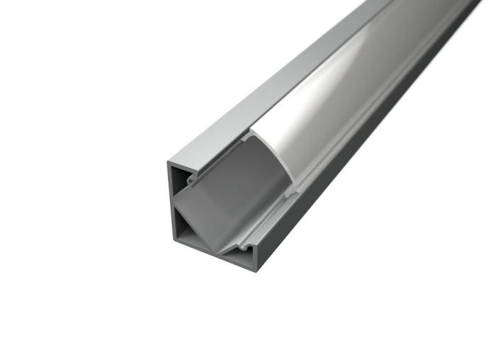 Alu profil CORNER 1 s difuzorem MILK  pro LED pásek 8-10mm  - 1metr