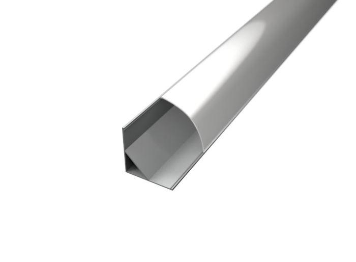 Alu profil CORNER 2 s difuzorem MILK  pro LED pásek 8-10mm-1metr