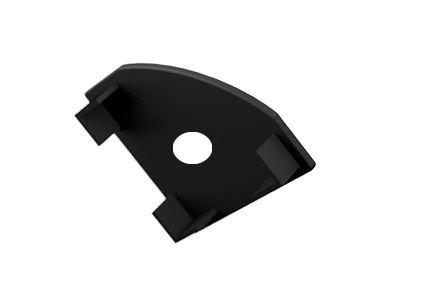 Záslepka s otvorem PVC CORNER 1 BLACK k Alu lištám pro LED pásky