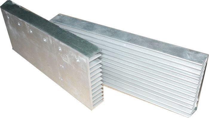 Chladič hliníkový 195x75x18mm