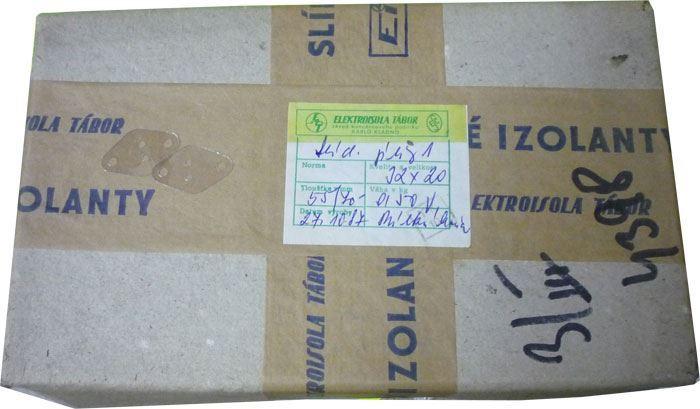 Izolační podložka pod tranzistor TO66 slídová, balení 0,5kg