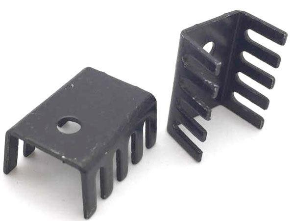 Chladič 15x10x20 (TO220) černý elox. 22K/W