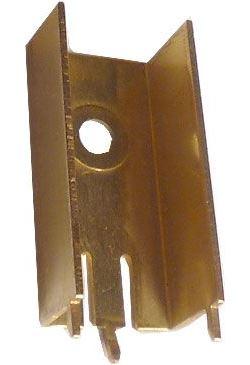 Chladič TO220 28x10x15mm mosazný