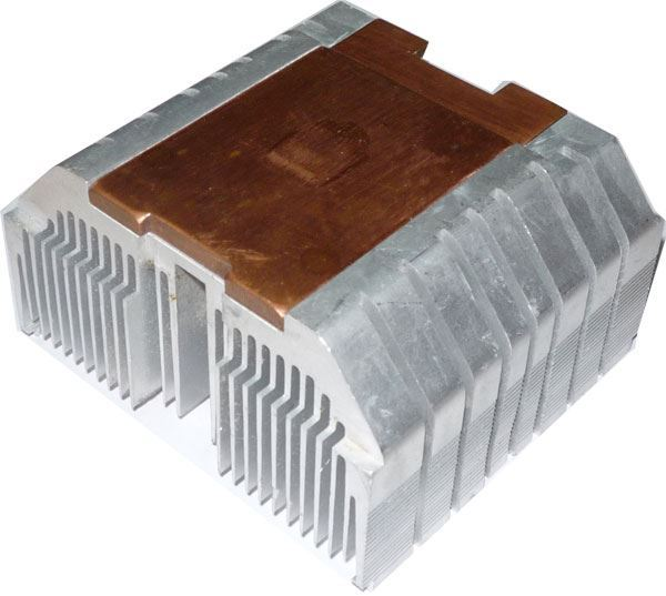 Chladič procesoru 80x73x40mm s Cu podložkou, použitý