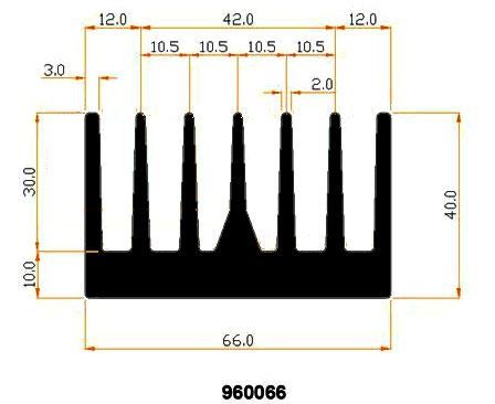 Chladič Al 990066 66x40x40mm