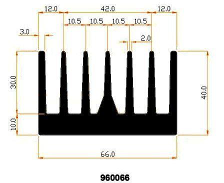 Chladič Al 990066 66x40x500mm