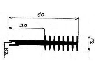 Chladič Al ZH4611 60x12x 50mm
