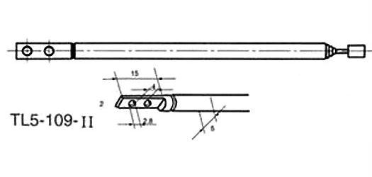Anténa teleskopická průměr 5mm 109/338mm 5dílná