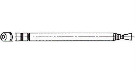 Anténa teleskopická průměr 7mm 80/300mm 7dílná