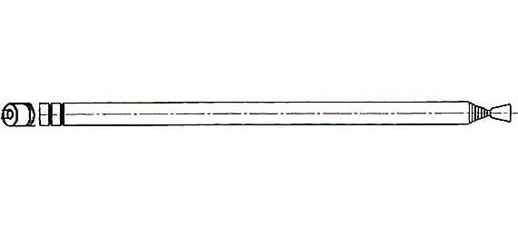 Anténa teleskopická průměr 7mm 138/735mm 7dílná