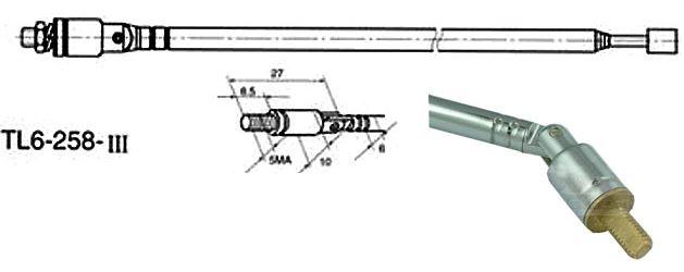 Anténa teleskopická průměr 6mm 258/884mm 6dílná