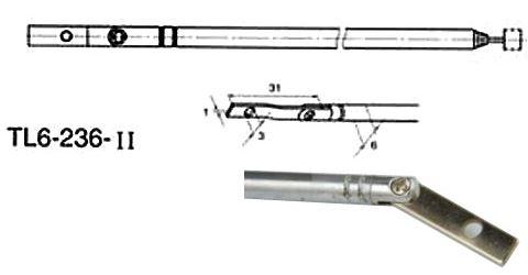 Anténa teleskopická průměr 6mm 236/833mm 6dílná