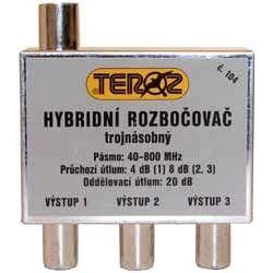 Rozbočovač 4x hybridní širokopásmový TEROZ 106