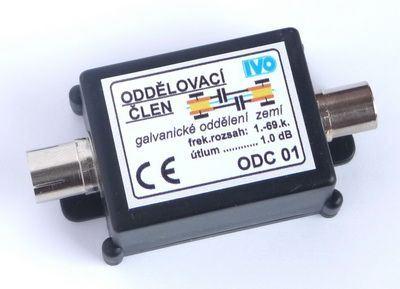 Galvanický odděl. zemí 5-800MHz s konektory IEC