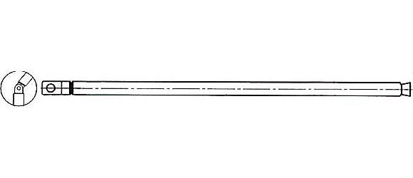 Anténa teleskopická průměr 6mm 134/562mm 7dílná