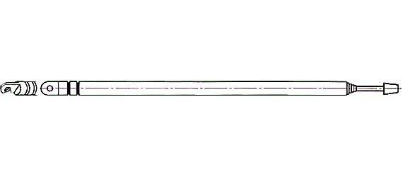 Anténa teleskopická průměr 6mm 150/635mm 6dílná