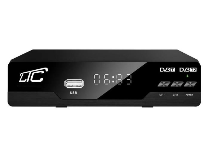 Set-top box DVB-T/T2, H.265 přijímač LTC T202