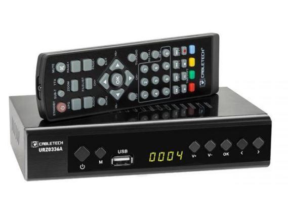 Set-top box DVB-T/T2 CABLETECH URZ0336A, použitý, po opravě