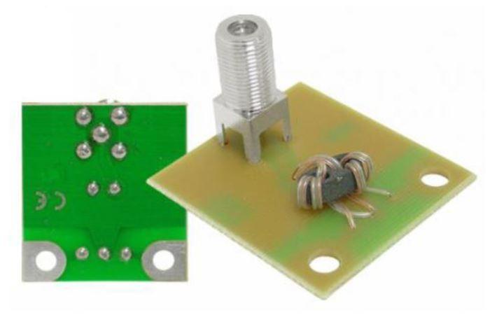 Symetrizační člen UHF, knanál 1- až 60 s F konektorem pro antény YAGI