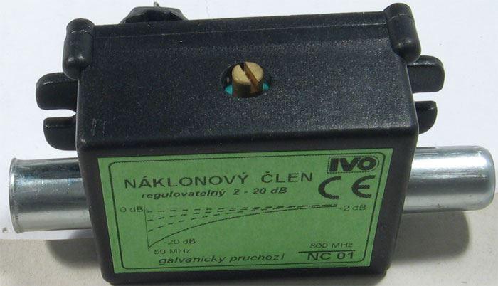 Náklonový člen -2 až -20dB v  pásmu 50-800MHz IVO NC01