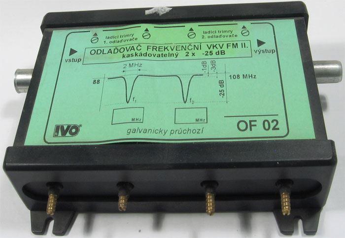 Frekvenční odlaďovač IVO OF 02, pro pásmo VKV