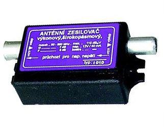 Zesilovač anténní výkonový, linkový 1-60 TV kanál  DVB-T I010-S