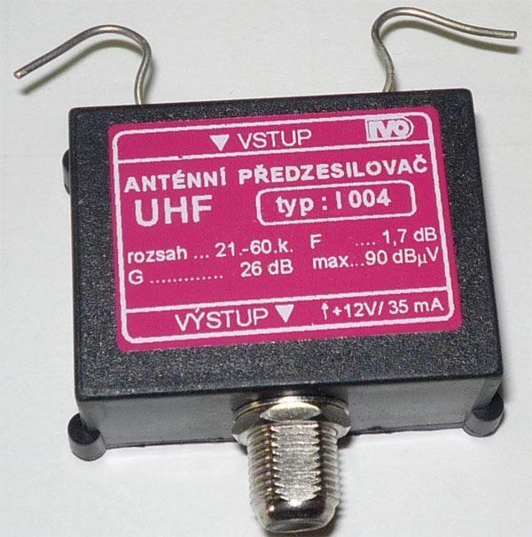 Anténní zesilovač 47-800MHz, 26dB, 90dBuV, IVO I004