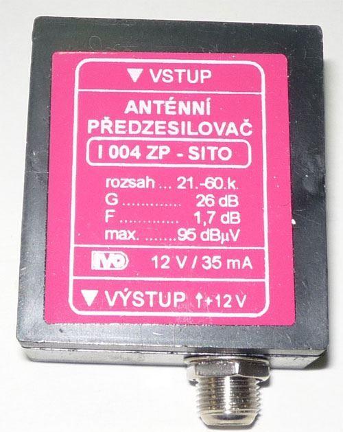 Anténní zesilovač 47-800MHz, 26dB, 90dBuV, IVO I004ZP-Síto