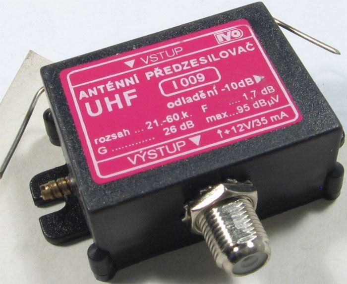 Anténní zesilovač IVO I009 21-69k s odladěním jednoho kanálu
